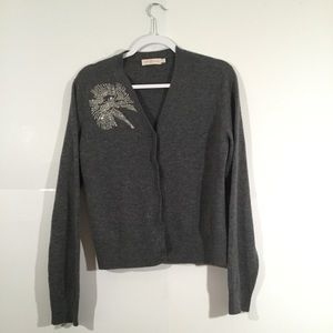 Tory Burch Gray Cardigan